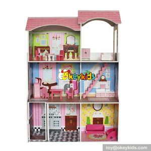 10 Best handmade large wooden girls dollhouse toy for sale W06A248