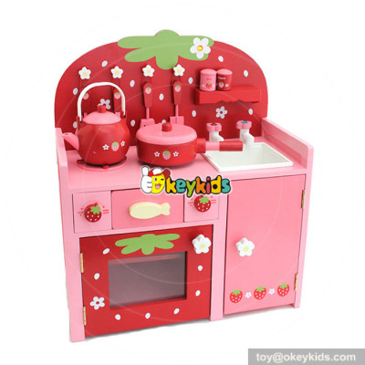 Toddler & Kids' lifestyle red strawberry wooden kitchen playsets with accessories W10C254