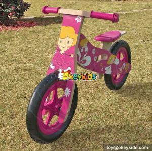 Wholesale best exercise walker wooden toddler balance bike for girls W16C173