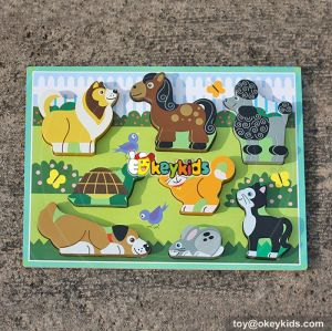 wholesale kids identify animals wooden learning shapes for toddlers W14D021