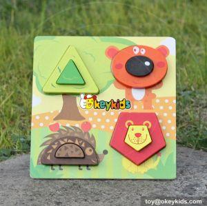wholesale educational wooden kids shape puzzle W14D024
