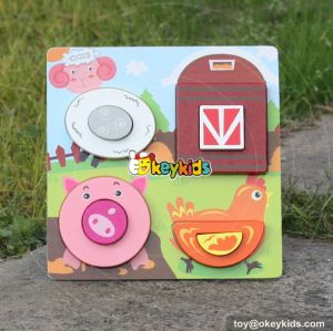 wholesale baby wooden puzzle toy farm animals wooden puzzle toy W14D025