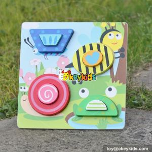 wholesale high quality 3d wooden puzzle toy top fashion 3d wooden puzzle toy W14F025