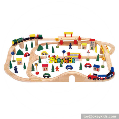 Best toy train sets wooden railway toys for kids W04C068