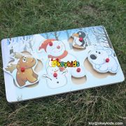 wholesale popular wooden snowman toys for kids new style wooden snowman toys for kids W14M093