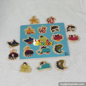 wholesale cheap wooden children educational puzzle top fashion wooden children educational puzzle W14M116