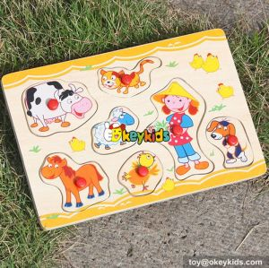 wholesale baby wooden puzzle jigsaw hot sale children wooden puzzle jigsaw W14M086