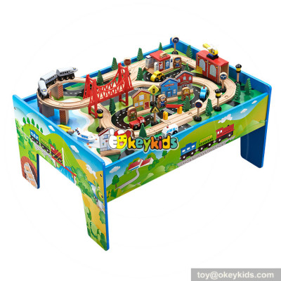Best toy train sets wooden thomas train table for kids W04C069
