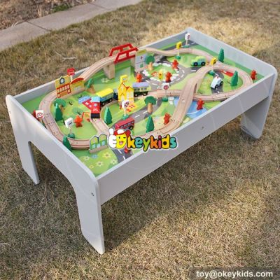 10 Best ride around wooden train table set for kids W04C070