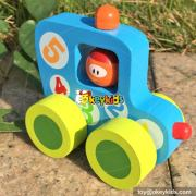 Most popular kids cartoon car toys wooden toys for sale W04A201