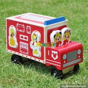 Top fashion cartoon wooden disney toy cars for kids W04A287