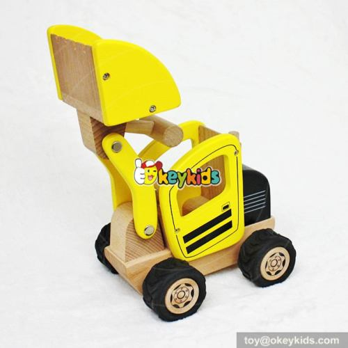 Best toys kids outdoor toys wooden toy excavator for kids W04A290