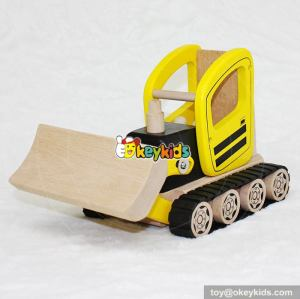 Best construction vehicle toy kids outdoor wooden toy bulldozer for sale W04A292