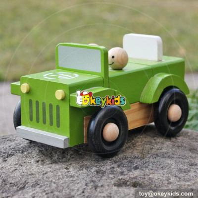 New design children funny wooden toy army trucks W04A326