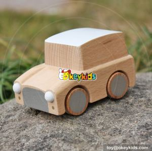 Best design children funny toys wooden pull back cars W04A327