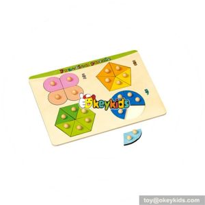 wholesale superior quality Wooden baby puzzles toy wooden jigsaw toy for fun W14A100