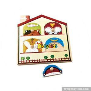 wholesale durable in use Wooden baby jigsaw toy  superior Wooden baby jigsaw toy,wooden jigsaw toy for fun W14A104