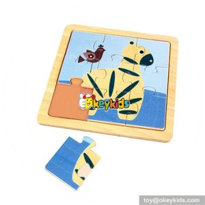 wholesale baby wooden animal puzzle games toy cute wooden animal puzzle toy hottest children puzzle toy W14C062