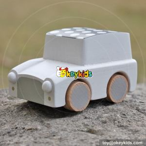 Best design children funny mini cars wooden pull back toys W04A329