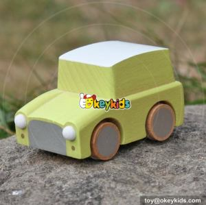 High quality children mini car toys wooden pull back cars W04A330