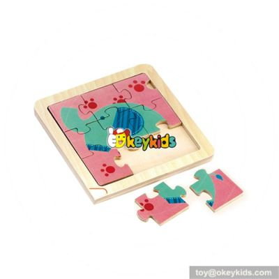 wholesale durable in use child wooden puzzle toy, top sale wooden kids puzzle toy delicate child puzzle wooden toy W14C066