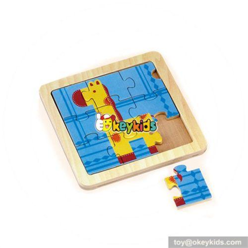 wholesale top fashion wooden children animal puzzle wooden children animal puzzle W14C071