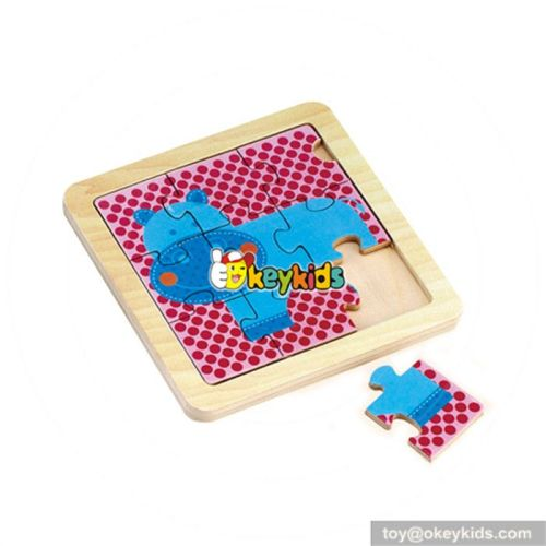 wholesale baby wooden 3d animal puzzle top fashion kids wooden 3d animal puzzle W14C072