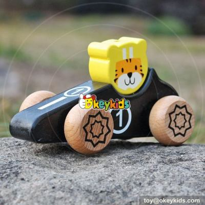 New design cartoon mini car toys wooden toys for toddlers W04A334