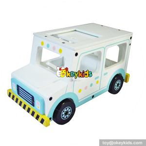 New design funny cartoon mini wooden toy cars for toddlers W04A299