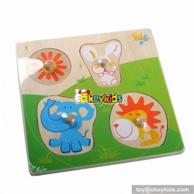 wholesale lovely animal wooden puzzle toy superior quality wooden puzzle toy top wooden puzzle toy for fun W14A059