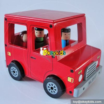Wholesale cheap small wooden toy bus for kids W04A311