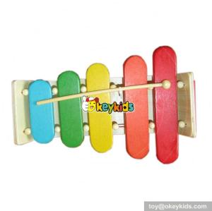 Wholesale delicate wooden xylophone toy for kids pretty and colorful wooden xylophone toy for children W07C023