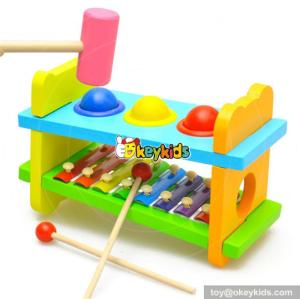 Educational wooden xylophone toy for kids colorful wooden toy xylophone for children knock xylophone set for baby W07C031