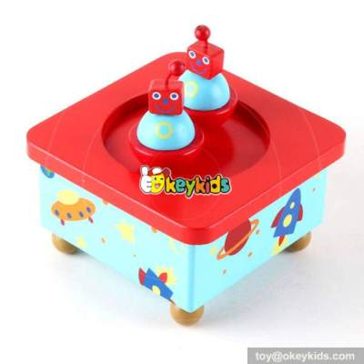 Best sale kids funny toys wooden movable girls music box W07B025
