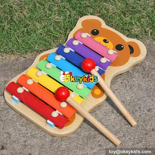 Hand wooden music toy for kids Lovely wooden toy music for children Music instrument set cute wooden xylophone toy W07C036