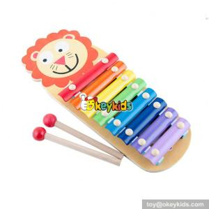 wholesale kids wooden animal xylophone fashion baby wooden animal xylophone W07C051