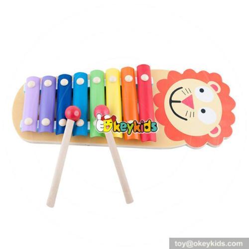 wholesale kids wooden animal xylophone fashion baby wooden animal xylophone W07C051