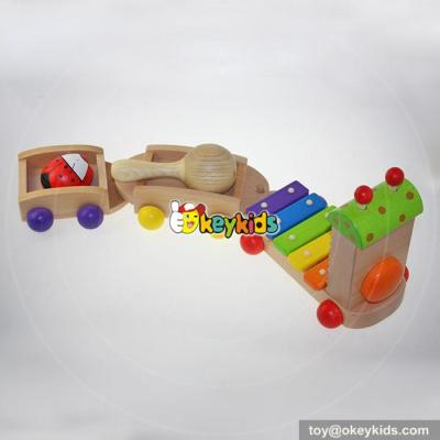 wholesale high quality baby wooden music toy Multifunction children music toy W07A087