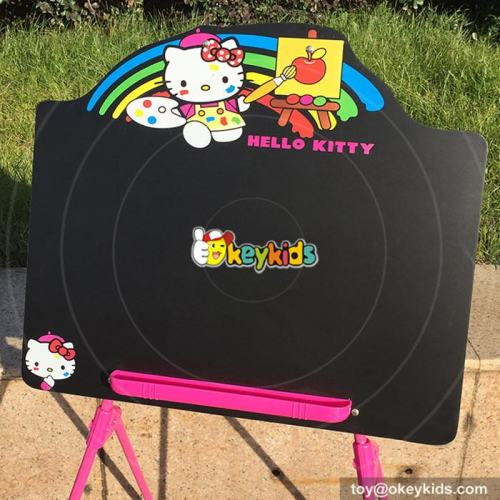 wholesale lovely hello kitty girls wooden drawing easel W12B090