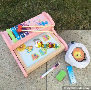 wholesale multi educational wooden toys wooden magnetic drawing board for kids W12B091