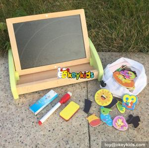 wholesale multi educational wooden magnetic doodle board for children W12B093