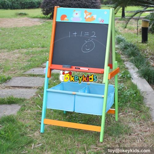 Best Design Double-Sided Educational Wooden Kids Drawing Board,Magnetic Writing Sketch Board Pad Erasable magna doodle Board W12B102