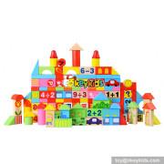 Wholesale 158 pcs kids wooden building bricks sets toy educational building bricks sets toy W13B039