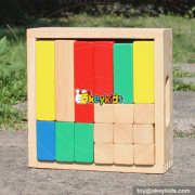 wholesale new design 18 pieces children wooden building toys high quality kids wooden building toys with box W13A116