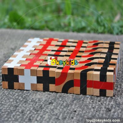 wholesale new design 36 pieces wooden kids building blocks best educational wooden kids building blocks W13A117
