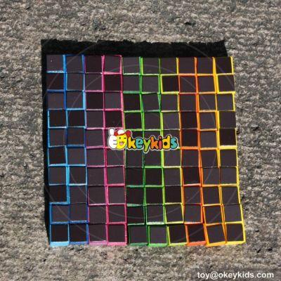 wholesale 100 pieces children diy wooden educational magnetic toys W13A118