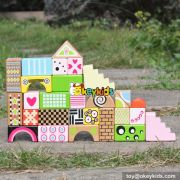 Wholesale funny 28 pieces children wooden building toys best design wooden building toys for kids W13A120