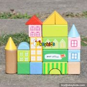 wholesale new design 20 pieces children wooden building toys for boys high quality lovely building toys for boys W13A121