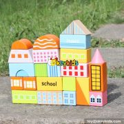 wholesale new design 25 pieces children wooden building blocks for kids educational wooden building blocks for kids W13A122