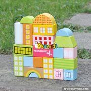 wholesale new design 22 pieces wooden kids blocks best sale wooden kids blocks educational wooden kids blocks W13A123